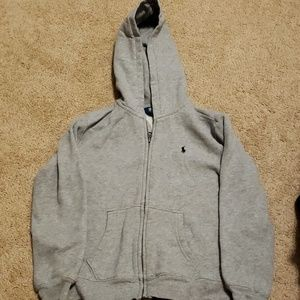 Gray Ralph lauren zip up hoodie